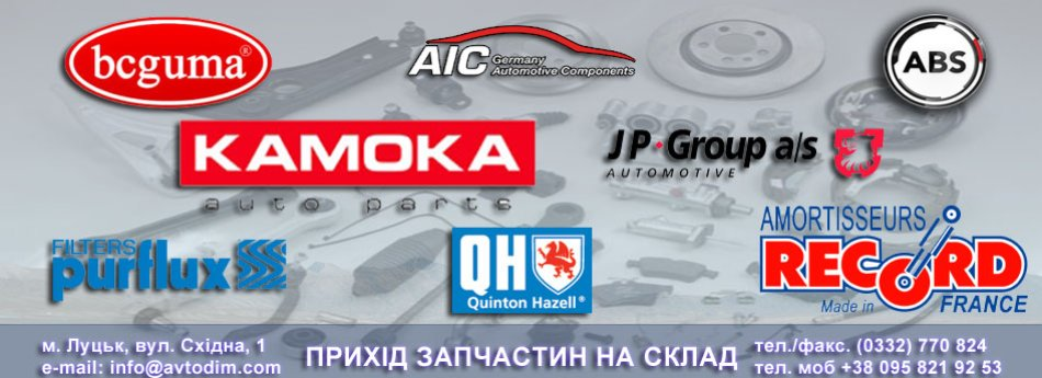 Прихід товару брендів BCGUMA, PURFLUX, KAMOKA, AIC, ABS, JPGROUP, QH, RECORD FRANCE