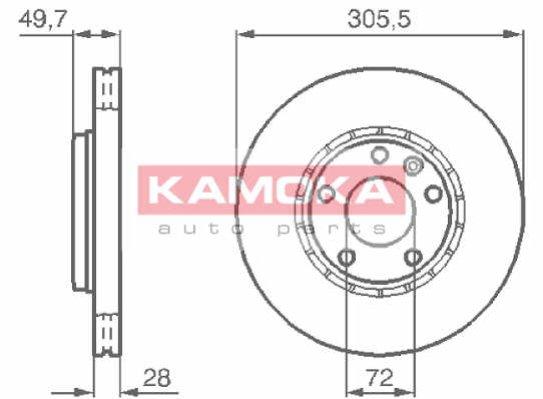 KAMOKA, 1032408, Гальмiвнi диски