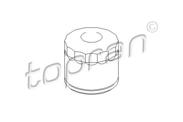 TOPRAN, 207580, Фiльтр масляний